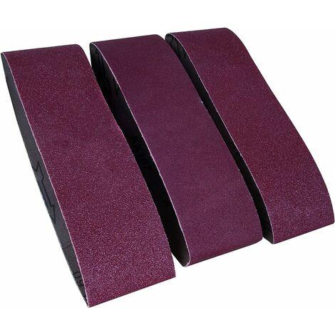 FERM BSA1013 Bandas de lijado 75x533 mm 3 piezas 1 x K60, 1 x K80, 1 x K120