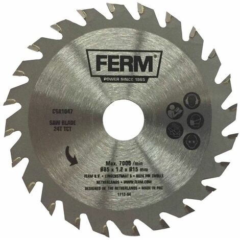 FERM CSA1047 Lame de scie circulaire de précision