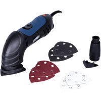 FERM DSM1009 Delta Sander 280W - Adjustable Variable Speed - With 6 Sanding Sheets (G80) and Dust Collection Adapter