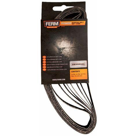 FERM EFA1003 Juego bandas de lijado 10mm 8 piezas G40, G80, G120