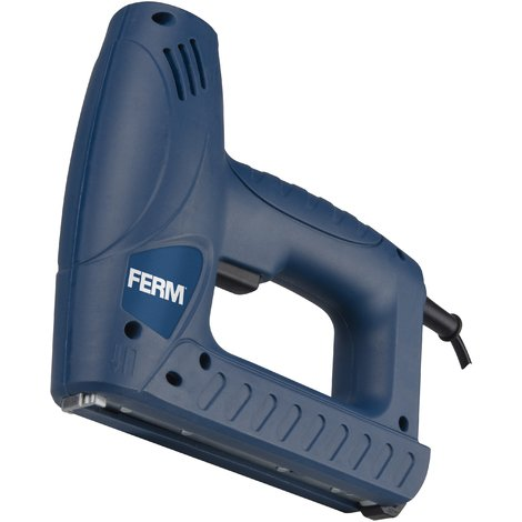 FERM ETM1004 Electric - Multi Tacker - Electric Staple Gun - For 8 - 16 mm Staples and 15 - 16 mm Nails - With Variable Speed - Includes 400 Staples and 100 Nails