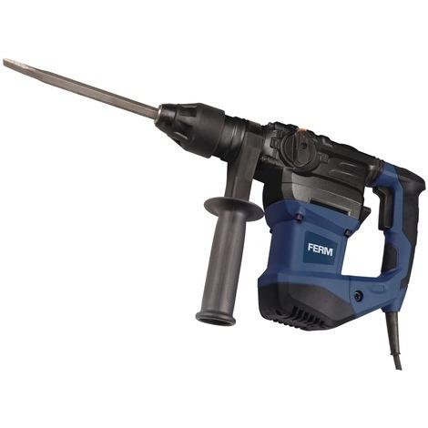 FERM HDM1037 Rotary Hammer Drill- Heavy Duty Chisel- 1500W