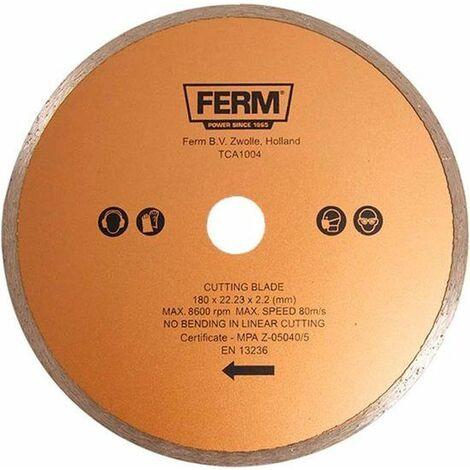 FERM TCA1004 Lame de scie diamantée 180mm pour TCM1010