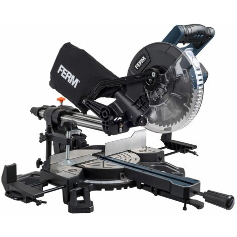 FERM MSM1039 Scie à onglet radiale 1500W 210mm