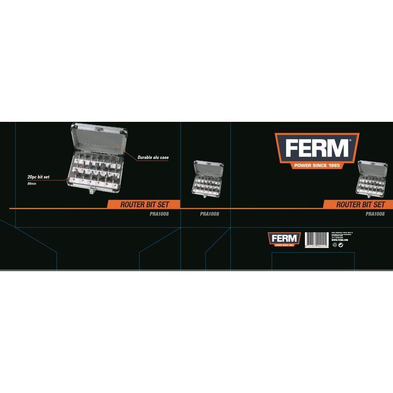 FERM PRA1008 Oberfräsersatz 20-Tlg.