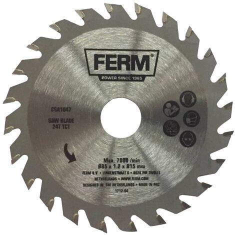 FERM Precision Saw Blade 24T TCT 85 mm CSA1047