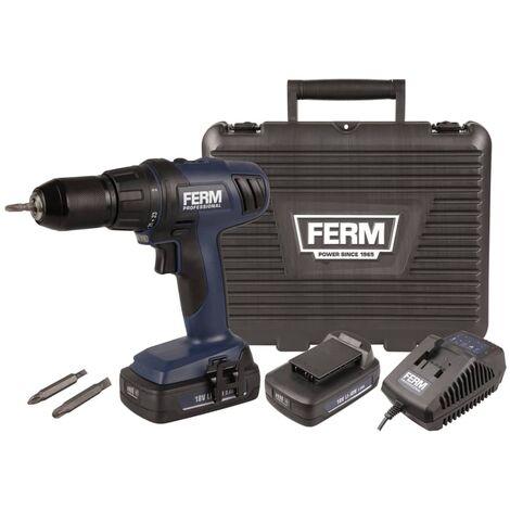 FERM PROFESSIONAL Taladro sin cable Li Ion 18 V CDM1122P