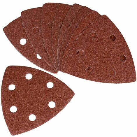 FERM PSA1034 Papier abrasif G120 (10 pcs) - pour ponceuse delta et outil multifonctions