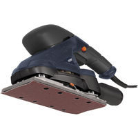 FERM PSM1024 Orbital Sander 180W - Dust Extraction Connection - With Soft grip - Incl. 5 Pieces Sanding Paper P80 und 5 Pieces Sanding Paper P120