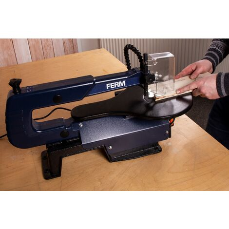"main image of ""FERM Sega da traforo 120W - interruttore a pedale. Include lame TPI e chiave a brugola. """