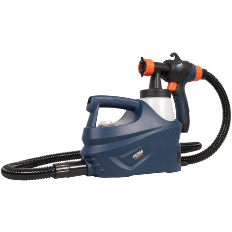 FERM SGM1011 HVLP Paint Spray System - Complete Fine Paint Spray System - 500W - Ergonomic Soft Grip - Adjustable Spray Nozzle - 280 g/min - Incl. Carrying Belt, Viscosity Measuring Cup and 2 Paint Containers