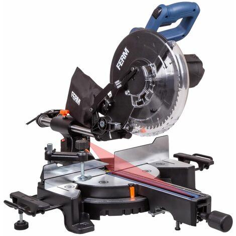 """main image of """"FERM Troncatrice radiale 1900W, diametro Ø254 mm con Guida Laser. Include lama 60T TCT, estensioni da tavolo, morsetto e sacchetto di raccolta polvere"""""""
