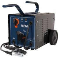 FERM WEM1035 Arc Welder - Welding Machine - 55-160 Ampere - 2-4 mm - Thermal Cut-Out - With Scaling Hammer, Steel Wire Brush and Welding Mask