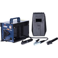 FERM WEM1042 Arc Welder - Welding Machine - MIG Welder - 40-100 A - Thermal Cut-Out - With Scaling Hammer, Steel Wire Brush and Welding Mask