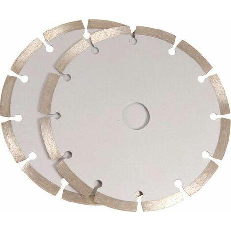 FERM WSA1001 Juego de hojas de sierra 125mm 2 piezas de diamante