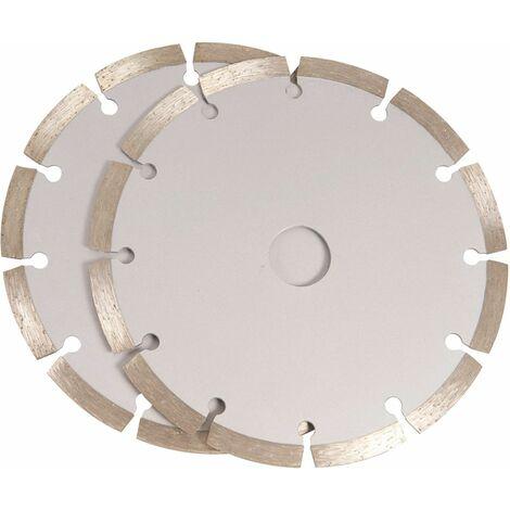 FERM WSA1002 Juego de hojas de sierra 150mm 2 piezas de diamante
