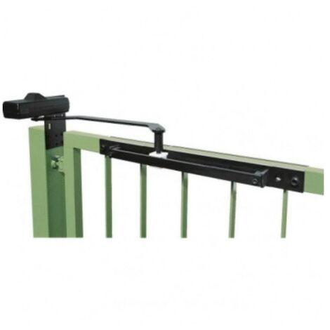Ferme portail à bras à glissière DC 620 G finition noir RAL 9004 pour largeur de vantail de 1100 mm maximum