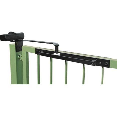Ferme portail à bras à glissière DC 680 G finition noir RAL 9004 pour largeur de vantail de 1400 mm maximum