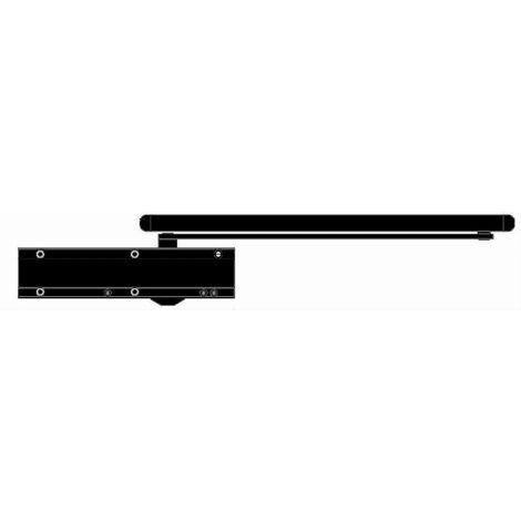 Ferme-porte à came - - Bras à glissière F2 à 5 Noir SEVAX - ESV7193N