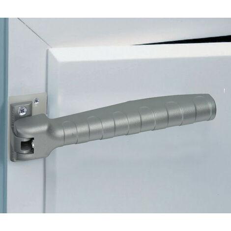 ferme porte ressort gris avec dispositif d 39 arr t 90. Black Bedroom Furniture Sets. Home Design Ideas