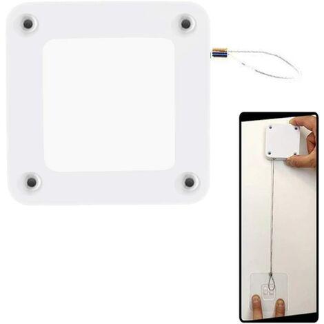 Ferme-porte Automatique Sans Poinçon, Fermeture Automatique Sans Trou pour La Plupart des Portes, Blanc