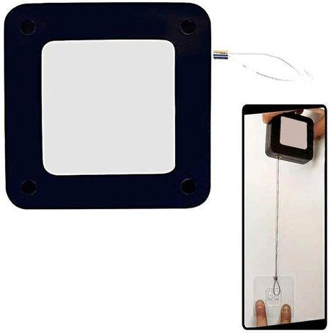 Ferme-porte Automatique Sans Poinçon, Fermeture Automatique Sans Trou pour La Plupart des Portes, Noir