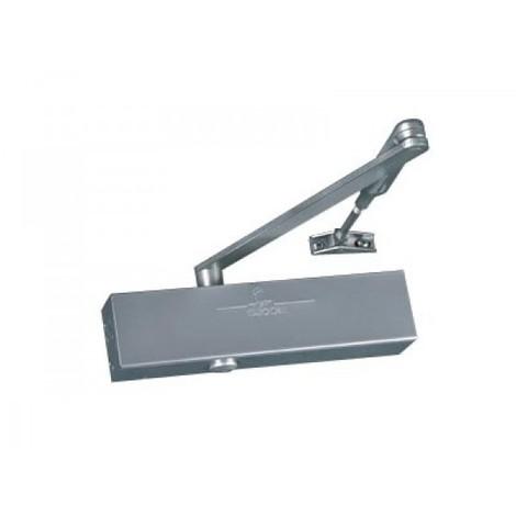 Ferme-porte GR300 Force 2 a 6 - avec bras compas - Coloris argent / blanc / noir - Garantie 5 ans - GROOM FERMETURES