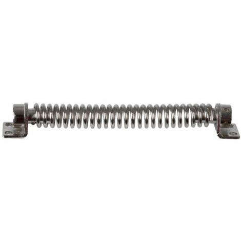 Zingu/é blanc Ferme-porte ressort spirale longueur 222 mm