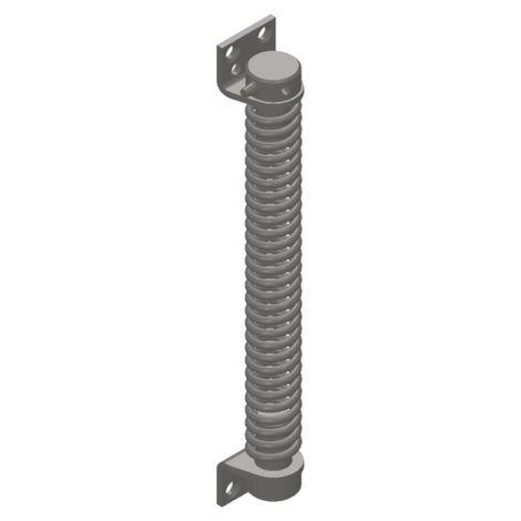 Ferme-porte MONIN à ressort - acier nickelé - lg 280 mm - 161110