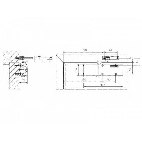 Ferme-porte TS1500, bras compas - Coloris : argent ou blanc - GEZE FRANCE