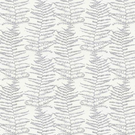 Fern Tree Wallpaper Leaf Leaves White Silver Glitter Metallic Shimmer Erismann