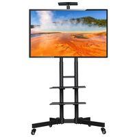 Fernseher Standfuß Mobile TV Ständer Fernsehständer für 32 bis 65 Zoll höhenverstellbar und schwenkbar max.VESA 600 x 400mm