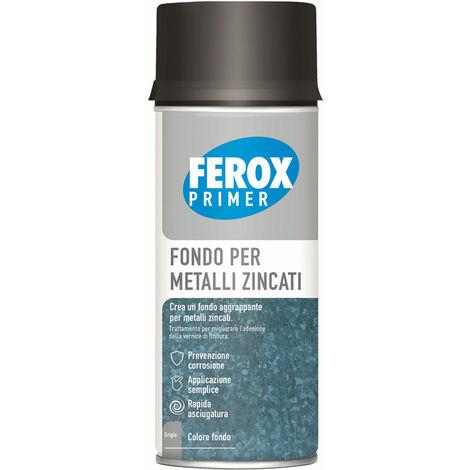 FEROX FONDO AGGRAPPANTE SPRAY lamiere zincate (fondo grigio)