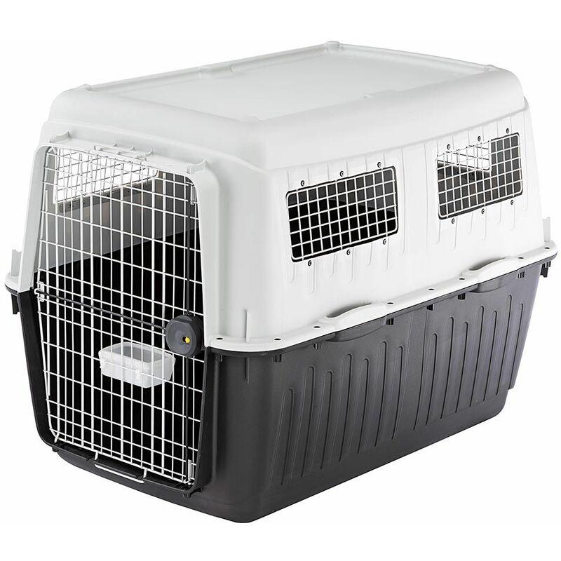 Ferplast ATLAS 80 PROFESSIONAL Transport pour chiens de grande taille. Variante ATLAS 80 - Mesures: 80 x 118 x h 88 cm - Gris - Gris