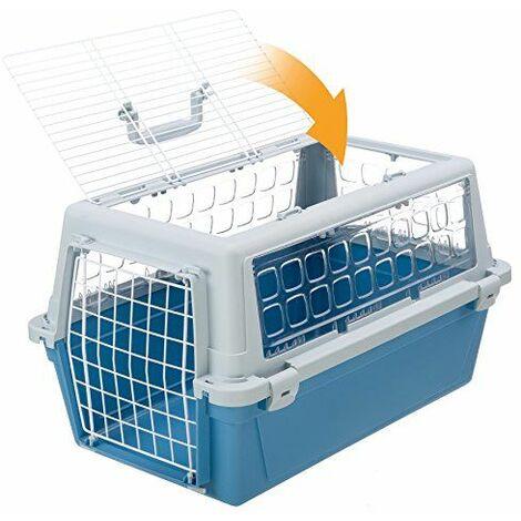Ferplast ATLAS TRENDY OPEN Panier de transport pour chats et chiens de petite taille avec toit ouvrant. Deux mesures.