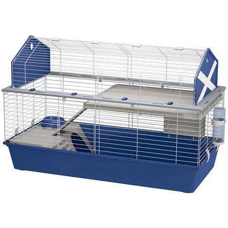 Ferplast BARN 120 Cage pour lapins avec accessoires et auto-collants. Agencement style grange américaine.