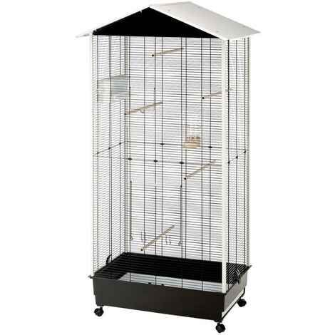 """main image of """"Ferplast Bird Cage and Aviary with Roof Nota Plastic 56115423 - White"""""""