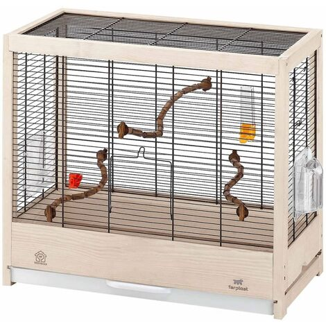 Ferplast Birdcage Giulietta 4/5/6 Bird House for Canaries Small Exotic Birds Stand Pet Cage Rectangular Revolving Feeder Home Multi sizes