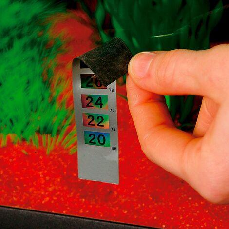 Ferplast BLU 9099 Thermomètre à bande adhésive pour aquariums. Variante BLU 9099 - Mesures: 9,5 x h 2 cm -