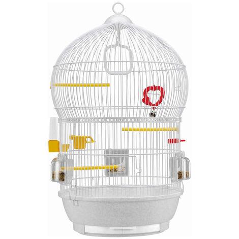 Ferplast - Cage Bali pour Oiseaux - Blanc
