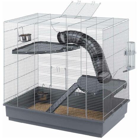 Ferplast - Cage Jenny pour Rats - Gris