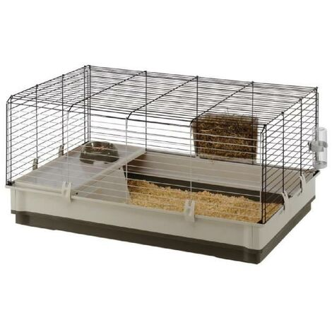 Ferplast Cage pour Lapins Cochons d'Inde Clapier Maison Multicolore L/XL