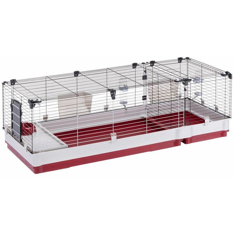 Ferplast KROLIK 160 Cage pour lapins avec extension séparable. Variante KROLIK 160 - Mesures: 162 x 60 x h 50 cm -