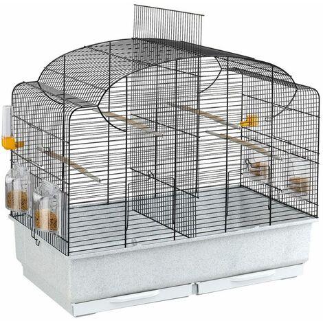 Ferplast CANTO Cage pour canaris avec séparation intérieure. Variante CANTO - Mesures: 71 x 38 x h 60,5 cm -