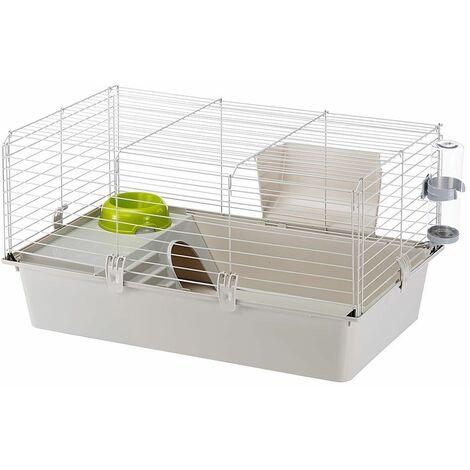 Ferplast CAVIE 80 Cage de grandes dimensions pour cochons d'inde. Variante SINGLEPACK W2 - Mesures: 77 x 48 x h 42 cm -