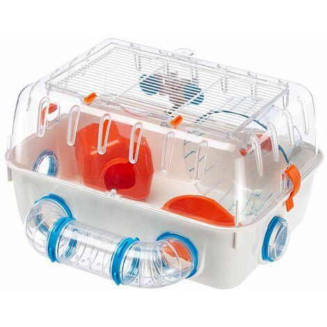 Ferplast COMBI 1 Cage compacte pour hamsters. Variante COMBI 1 - Mesures: 40,5 x 29,5 x h 22,5 cm - Blanc - Blanc