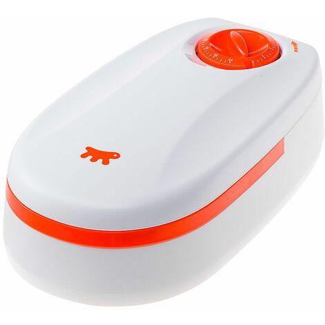 Ferplast COMETA Distributeur automatique avec minuterie pour petits chiens et chats. Variante COMETA - Mesures: 13,2 x 23,7 x h 7,5 cm - 0,4 L - Blanc