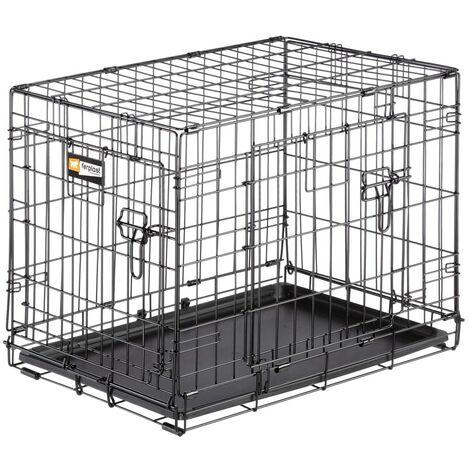 Ferplast Dog Crate Dog-Inn 75 77.4x48.5x54.6 cm Grey - Grey