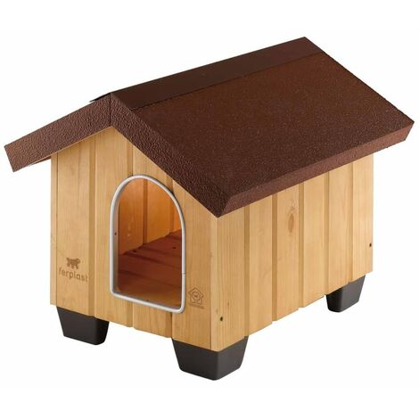 Ferplast Doghouse Domus Mini/Small/Medium Wood Cat Dog Animal Kennel Shelter Habitat Shed Home Indoor Outdoor Weather Resistant Multi Sizes