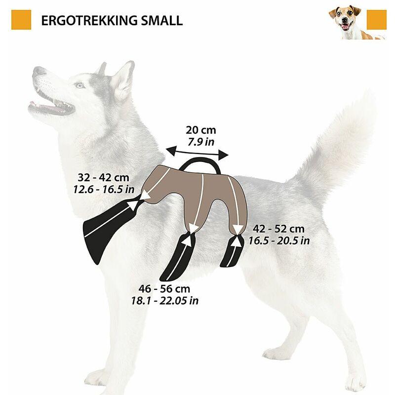 Ferplast ergotrekking P Ergonomique Moyen Harnais pour Chiens a: 37//÷ 47/cm/ Marron /C: 50//÷ 60/cm/ Taille M /l 25/cm Marron /B: 55//÷ 65/cm/
